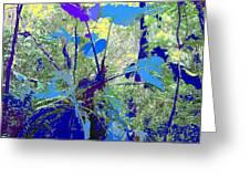 Blue Jungle Greeting Card