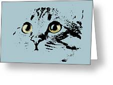 Blue Kitten Portrait Greeting Card