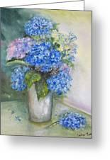 Blue Ladies Greeting Card