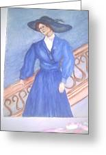 Blue Lady Greeting Card