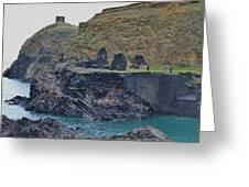 Blue Lagoon 2 Abereiddy Wales Greeting Card