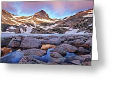 Blue Lake Sunrise Greeting Card