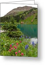 Blue Lakes Summer Portrait Greeting Card