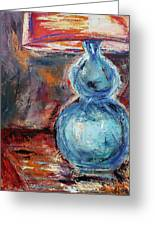 Blue Lamp Greeting Card by Jill Tennison