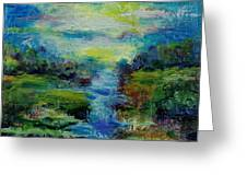 Blue Landscape. Greeting Card