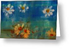 Blue Landscape In Oil Greeting Card