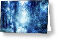Blue Lights Greeting Card