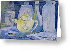 Blue Lights Greeting Card