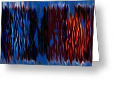Blue Liquid Greeting Card