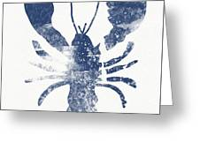 Blue Lobster- Art By Linda Woods Greeting Card
