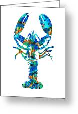 Blue Lobster Art By Sharon Cummings Greeting Card