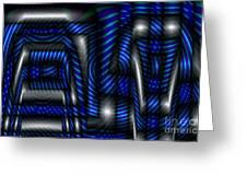 Blue Machinery Greeting Card