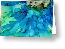 Blue Magnificence Greeting Card