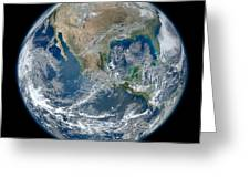 Blue Marble 2012 Planet Earth Greeting Card