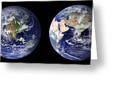 Blue Marble Composite Images Generated By Nasa Greeting Card