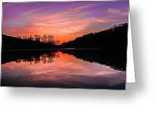 Blue Marsh Lake Sunset Greeting Card