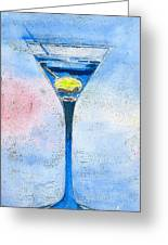 Blue Martini Greeting Card