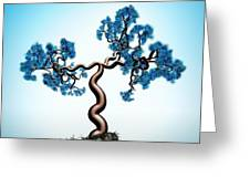 Blue Math  Tree Greeting Card