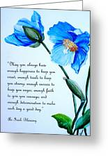 Blue Meconopsis Poppy Greeting Card