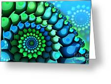 Blue Meets Green Greeting Card