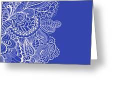Blue Mehndi Greeting Card