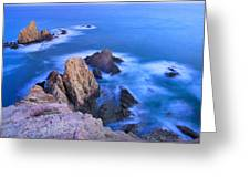 Blue Mermaid Reef At Sunset Greeting Card