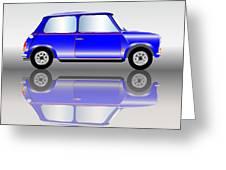 Blue Mini Car Greeting Card