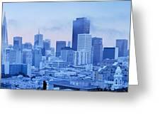 Blue Mist, San Francisco Greeting Card