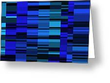 Blue Mondrian  Greeting Card