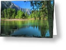 Blue Mood In Yosemite Greeting Card