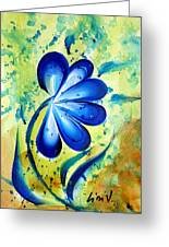 Blue Mood  Greeting Card