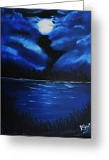Blue Moon 2 Greeting Card