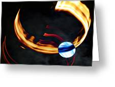 Blue Moon Fire Moon Abstract Greeting Card