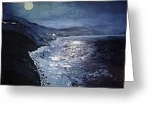 Blue Moon Over Big Sur Greeting Card