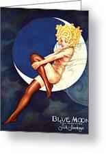 Blue Moon Silk Stockings Greeting Card