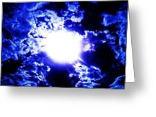 Blue Moon Smoke Greeting Card