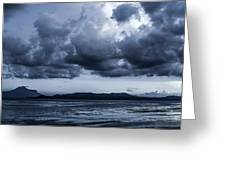 Blue Morning Taal Volcano Philippines Greeting Card