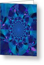 Blue Motif Greeting Card