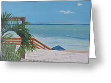 Blue Mountain Beach Dune Greeting Card