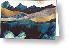 Blue Mountain Reflection Greeting Card