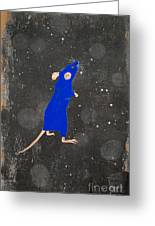 Blue Mouse Greeting Card