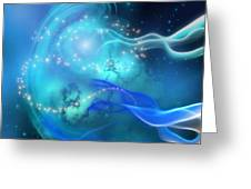 Blue Nebula Greeting Card
