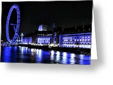 Blue Night In London Greeting Card