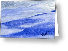 Blue Noon In Western Montana Greeting Card