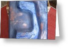 Blue Nun Greeting Card