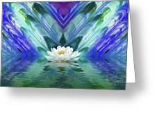 Blue Oasis Greeting Card