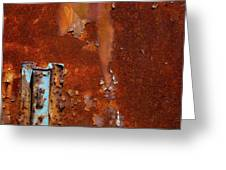 Blue On Rust Greeting Card