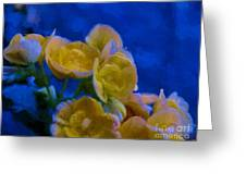 Yellow On Blue Greeting Card