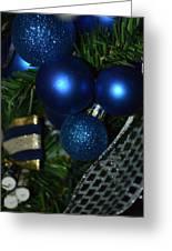 Blue Ornament Greeting Card