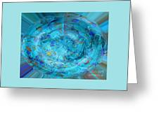 Blue Oval Greeting Card